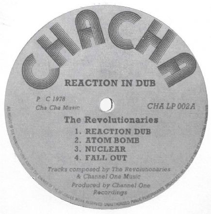 Revolutionaries - Reaction In Dub (Cha Cha) LP NO SLEEVE